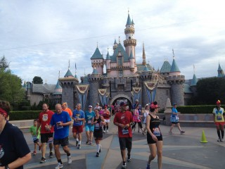 Running through Sleeping Beauty's Castle is a special treat for all runners