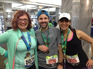 With Tanya and Zach after the race